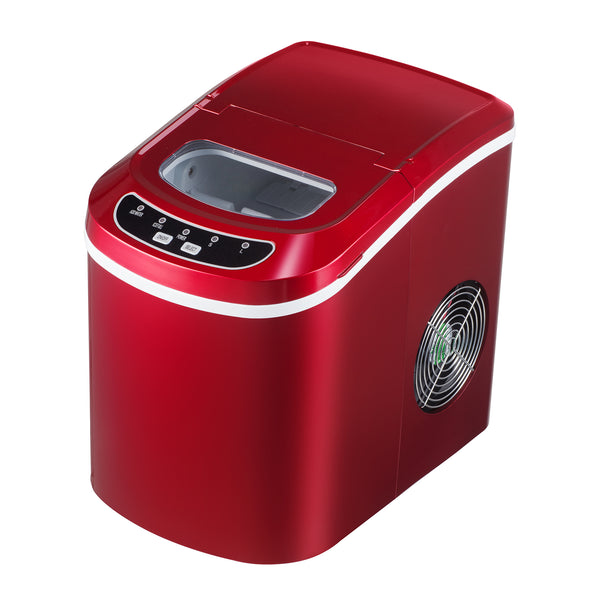 KUPPET Portable Ice Maker Countertop with 26lbs Daily Capacity, 9 Ice Cubes Ready in 8 Minutes£¬Ice Cube Maker Machine (Red)