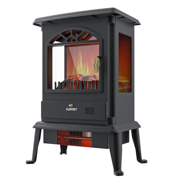 KUPPET Electric Fireplace Stove Freestanding Stove Portable Indoor Space Heater 3 Side Fire