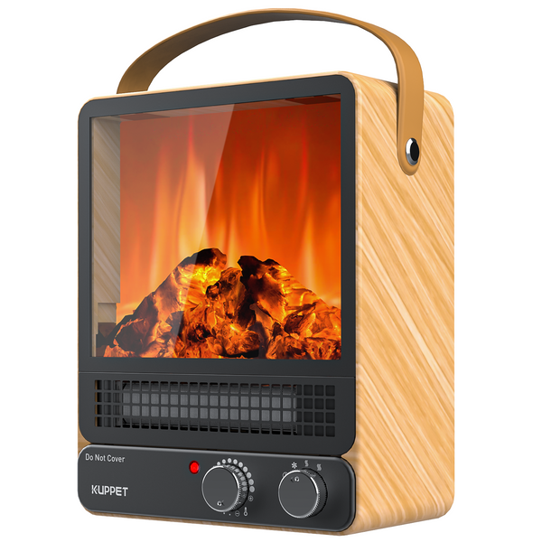 KUPPET Portable Fireplace Heater Mini Electric Fireplace Tabletop 750W/1500W