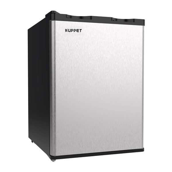KUPPET Upright Freezer, 2.1Cu.Ft Mini Freezer Compact Reversible Single Door Table Top Mini Freezers for Ice Cream/Breast Milk/Sea Food, Adjustable Removable Shelves