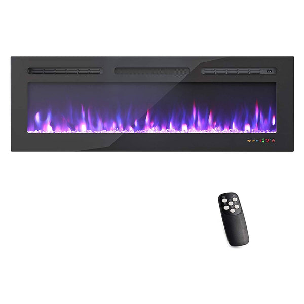 KUPPET 50 inch Electric Fireplace , Freestanding & Recessed Electric Heater with Remote Control, Over-Heating Protection Work with Alexa