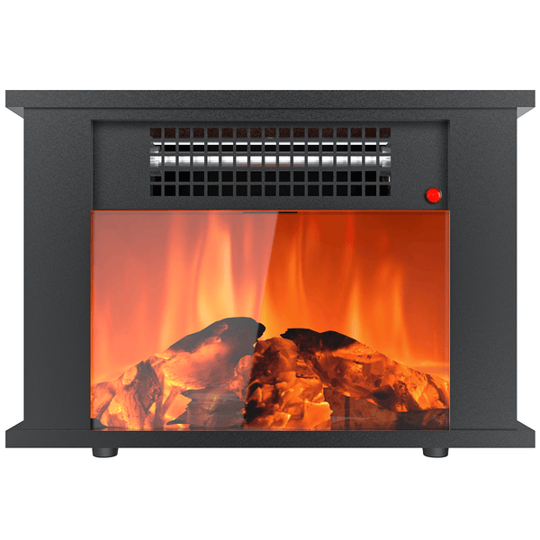 Mini Desktop Electric Fireplace KUPPET Portable Space Heater Fireplace Freestanding with Flame Effect and Overheating/Tip-Over Protection, 1000W(3400BTU) & Office Use & Home Use