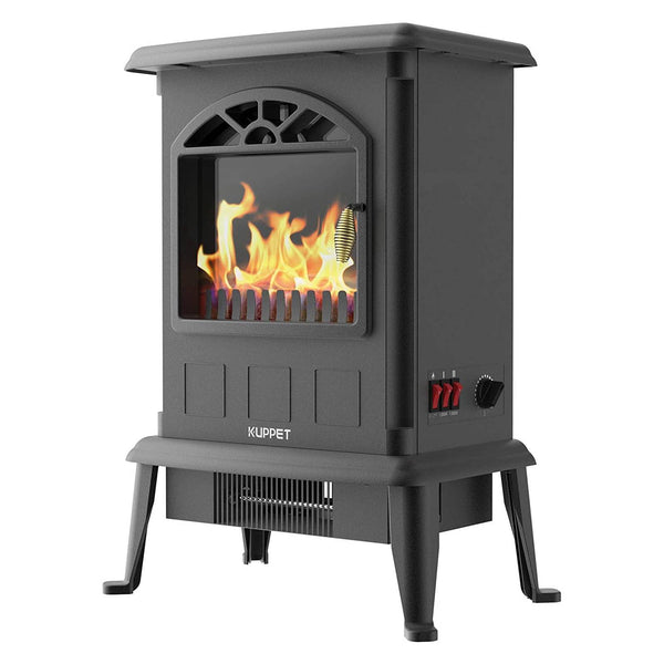 KUPPET Electric Fireplace Stove Freestanding Stove Portable Indoor Space Heater 1 Side Fire