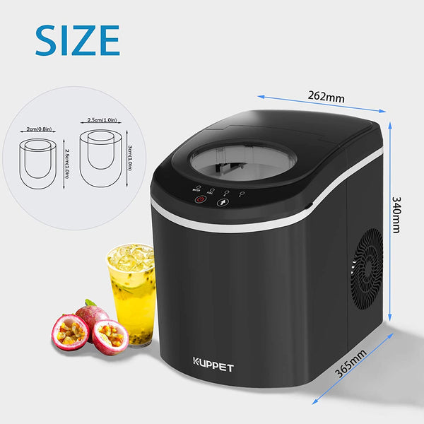 Portable Ice Maker Machine for Countertop Self-Cleaning Electric Ice Maker with Scoop and Basket