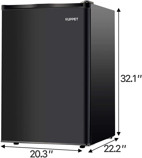 KUPPET Mini Refrigerator Compact Refrigerator-Small Drink Food Storage Machine for Dorm, Garage, Camper, Basement or Office, Single Door Mini Fridge, 4.5 Cu.Ft,Black