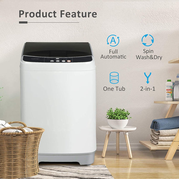 KUPPET Full-Automatic 10lbs Portable Washing Machine