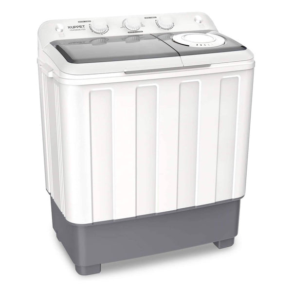 KUPPET Portable Compact Mini Washing Machine,Twin Tub  26.4 lbs Capacity, Washer(17.6lbs)&Spiner(8.8lbs),Built-in Drain Pump,Semi-Automatic