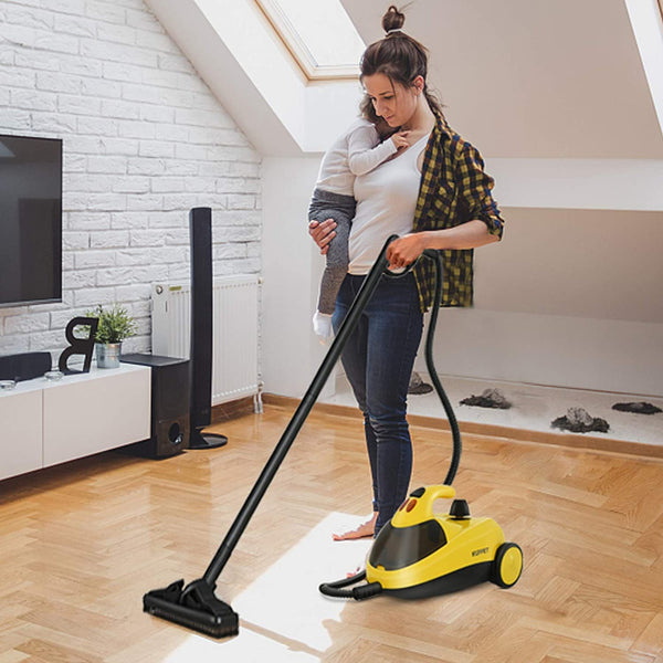 Steam Cleaner with Various Accessories, 1.5L Water Tank, Multi-Purpose, Pressurized Steam Cleaning for Most Floors, Appliances, Carpe, Windows, Autos