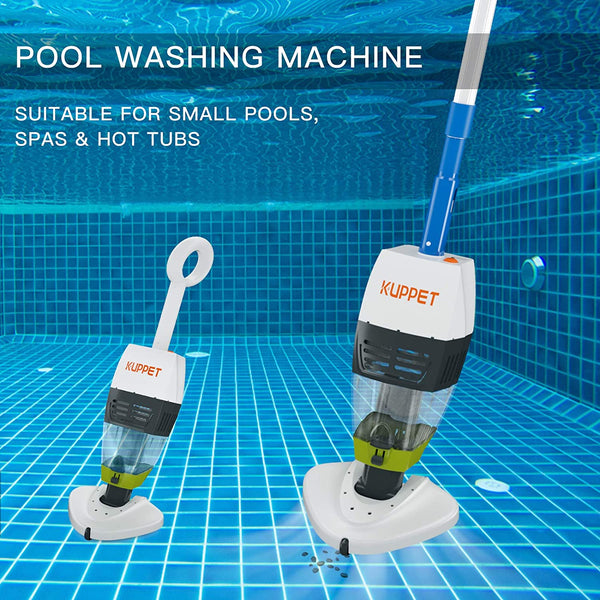 KUPPET Hand-Held Pool Vacuum Cleaner, Automatic Robotic Pool Cleaner