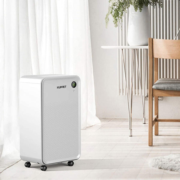 KUPPET Dehumidifier 30 Pints for up to 1500 Sq. Ft with Dry Clothes Function for Home with Water Tank