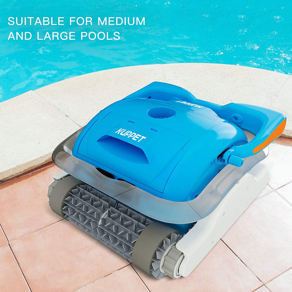 Professional Automatic Pool Vacuum Cleaner - Pool Cleaner with Large Filter Basket and Tangle-Free Swivel Cord for Swimming Pool Debris