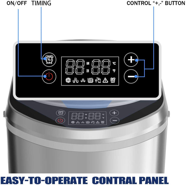 Portable Ice Maker Machine for Countertop with LED Display Self-Cleaning Electric Ice Maker with Scoop and Basket