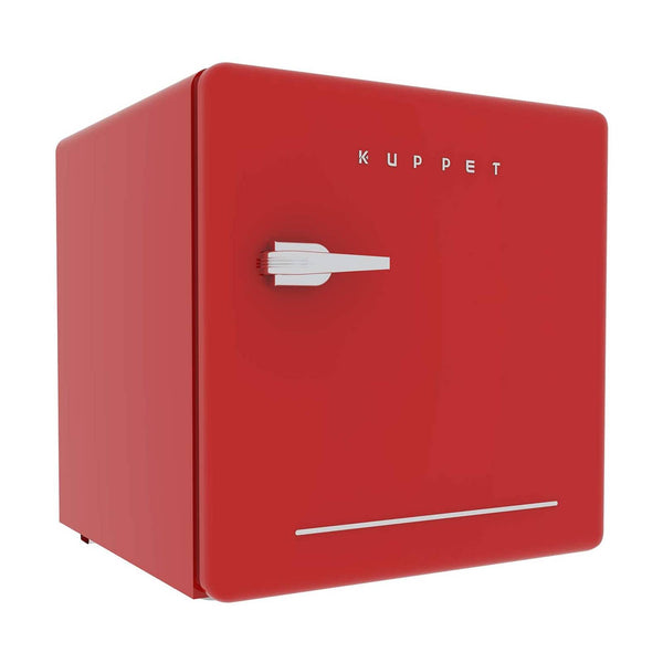 KUPPET Classic Retro Compact Refrigerator Single Door, Mini Fridge with Freezer, Small Drink Chiller for Home,Office,Dorm, Small beauty cosmetics Skin care refrigerated for home,1.6 Cu.Ft