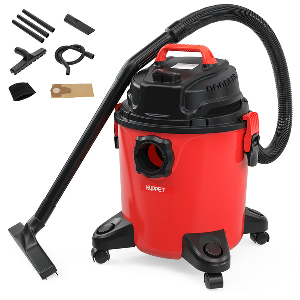 KUPPET 3-in-1 Wet/Dry Vacuum Cleaner, Shop Vacuum with Attachments, 5 Gallon, 5.5 Peak HP, 16Kpa Powerful Suction, 20L Capacity