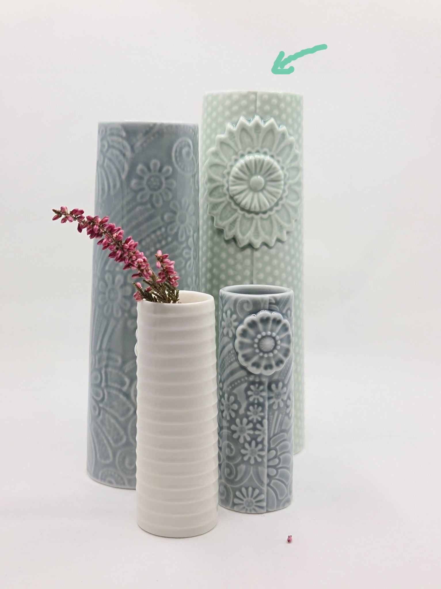 Dottir- Pipanella- DOT MEDIUM-  grønnaktig vase