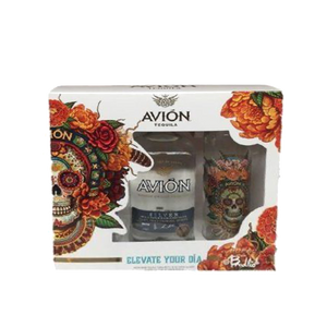 AVION SILVER TEQUILA GIFT PACK WITH TWO GLASSES