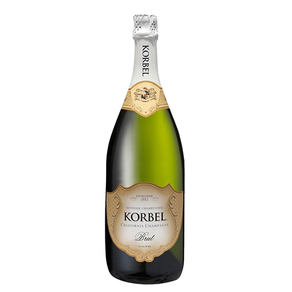 Load image into Gallery viewer, KORBEL BRUT CALIFORNIA CHAMPAGNE 1.5L