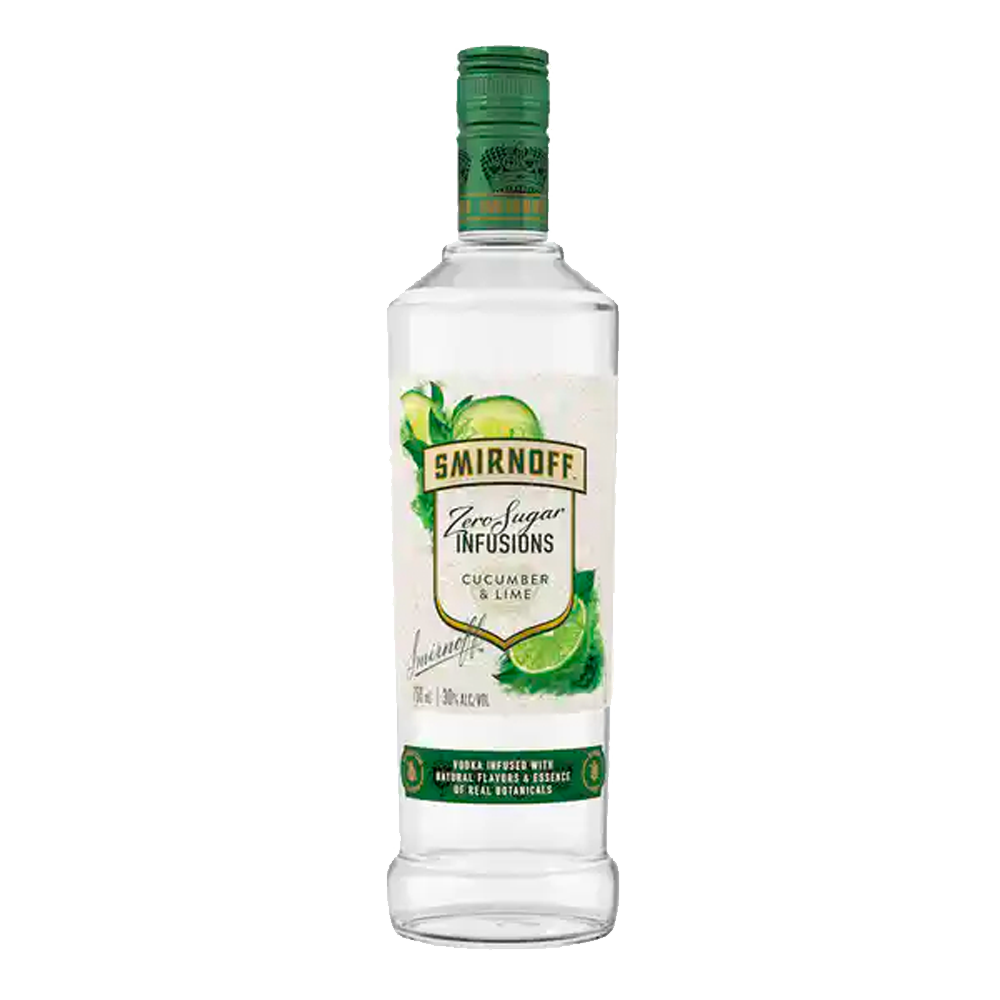 SMIRNOFF CUCUMBER LIME ZERO SUGAR VODKA
