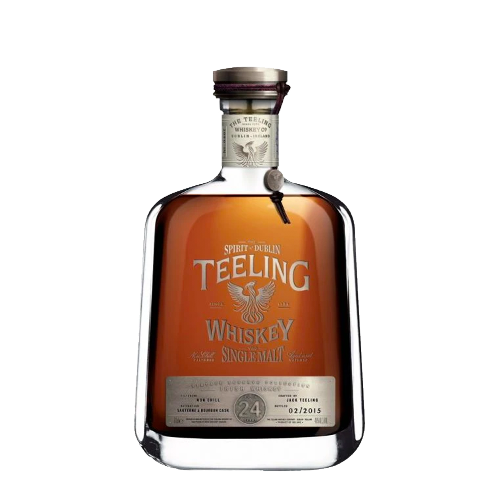 Load image into Gallery viewer, TEELING SINGLE MALT IRISH WHISKEY 24 YEAR OLD (5405173743770)
