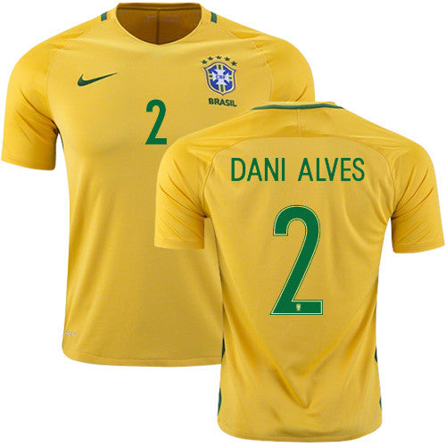 2018 World Cup Dani Alves Brazil National Team Jersey - La Vinotinto Shop