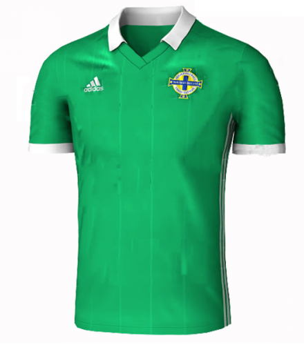 2018 World Cup adidas Northern Ireland National Team Home Jersey - La Vinotinto Shop