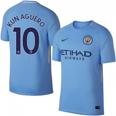 2017-18 Season Nike Men s Kun Agüero  10 Manchester City Club Team Home  Jersey d2c94240a