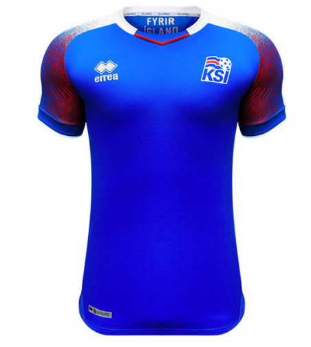 2018 World Cup Iceland National Team Home Jersey - La Vinotinto Shop