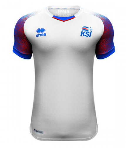 2018 World Cup Iceland National Team Away Jersey - La Vinotinto Shop