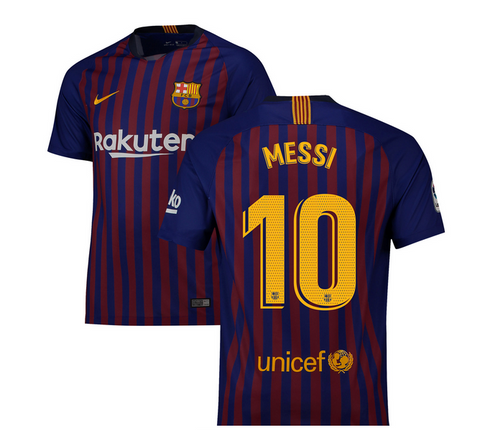 2018-19 Season Nike Men's Messi #10 Barcelona Club Team Home Jersey - Kids