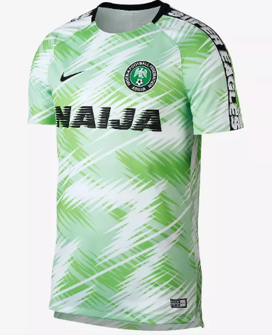 2018 World Cup Nigeria National Team Pre-match Jersey