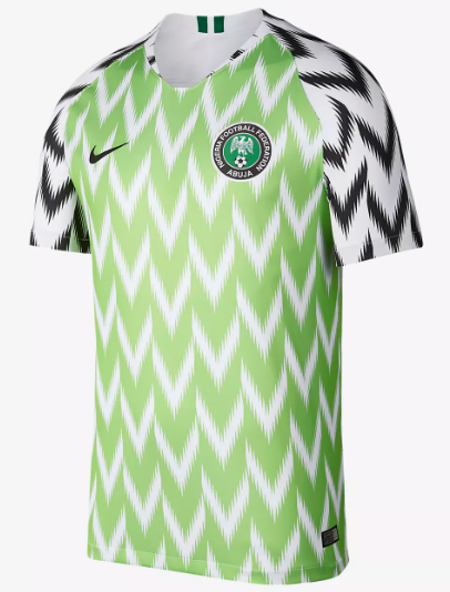 2018 World Cup Nigeria National Team Home Jersey - La Vinotinto Shop