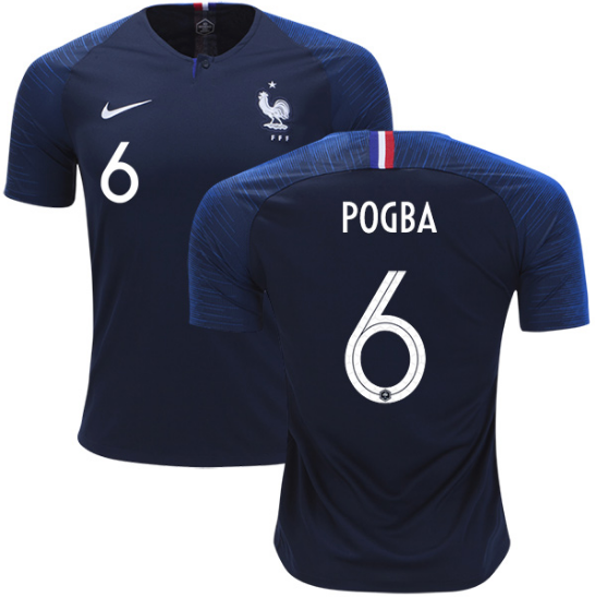 2018 World Cup France Pogba #6 National Team Jersey - Kids - La Vinotinto Shop