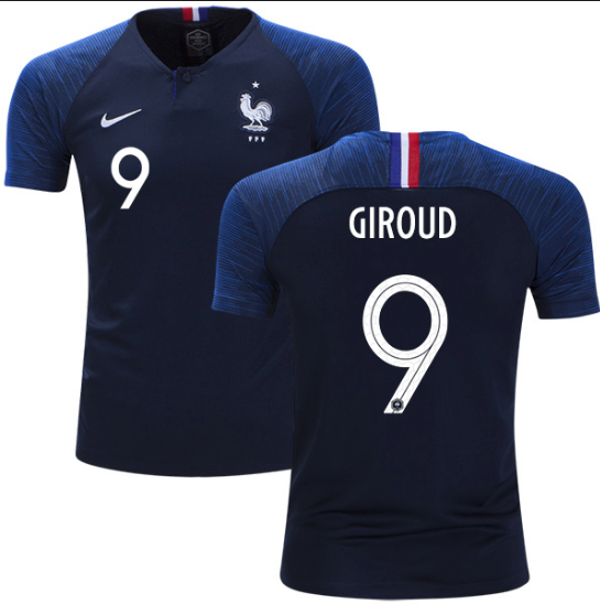 2018 World Cup France Giroud #9 National Team Jersey - La Vinotinto Shop