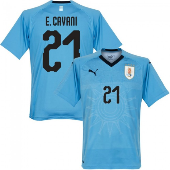 2018 World Cup E. Cavani Uruguay National Team Jersey - La Vinotinto Shop