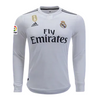 2018-19 Season adidas Men's Modric #10 Real Madrid Club Team Home Long Sleeve Jersey - White - La Vinotinto Shop