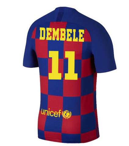 2019-20 Season Barcelona Club Nike Men's O.Dembele #11 Team Home Jersey