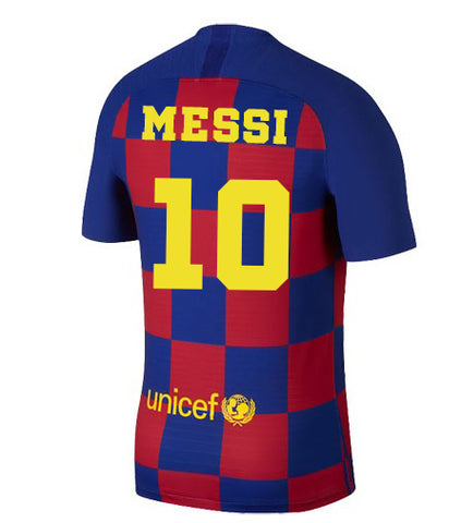 2019-20 Season Barcelona Club Nike Men's Messi #10 Team Home Jersey