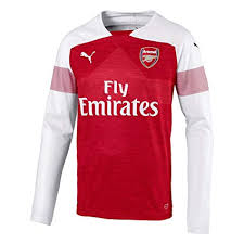 Personalize Your 2018-19 Season Puma Men's Arsenal FC Club Team Home Jersey - Red Long Sleeve
