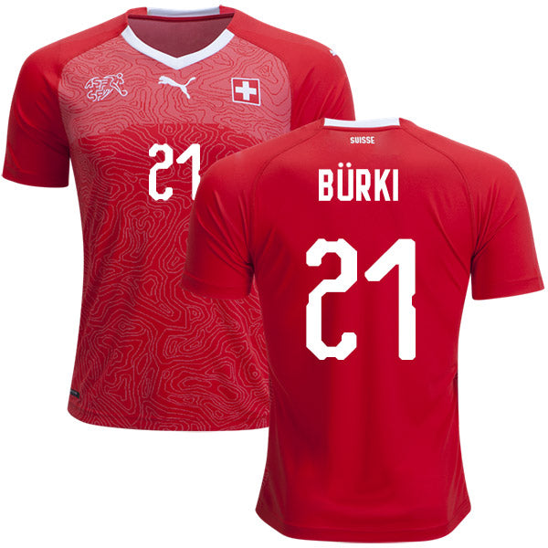 Switzerland Burki National Team Jersey - La Vinotinto Shop