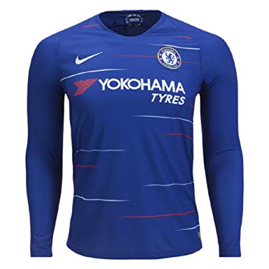 2018-19 Season adidas Men's Chelsea Club Team Home Jersey Long Sleeve - La Vinotinto Shop