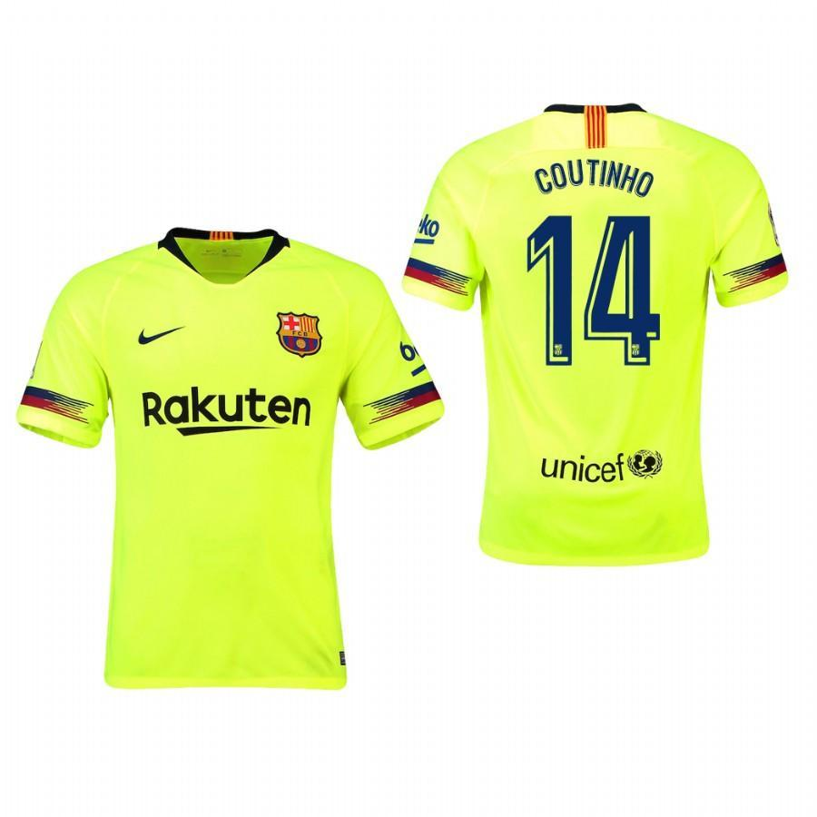 2018-19 Season Nike Men's Coutinho #14 Barcelona Club Team Away Jersey - La Vinotinto Shop