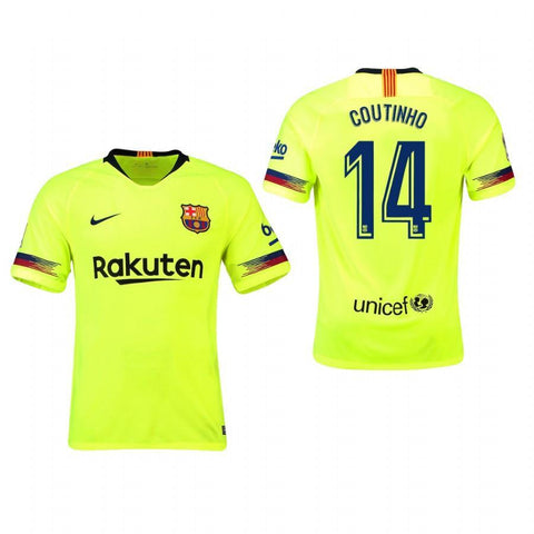 2018-19 Season Nike Men's Coutinho #14 Barcelona Club Team Away Jersey