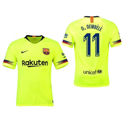 2018-19 Season Nike Men's Dembele #11 Barcelona Club Team Away Jersey