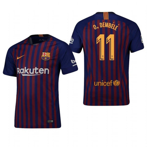 7352f0ba46c 2018-19 Season Nike Men s Dembele  11 Barcelona Club Team Home Jersey