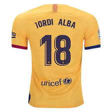 2019-20 Season Barcelona Club Nike Men's J.Alba #18 Team Away Jersey