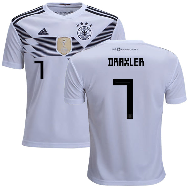2018 World Cup adidas Draxler #7 Germany National Team Home Jersey - White - La Vinotinto Shop