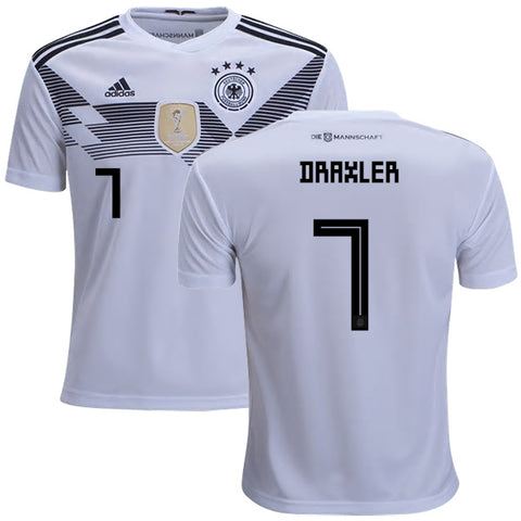 2018 World Cup adidas Draxler #7 Germany National Team Home Jersey - White