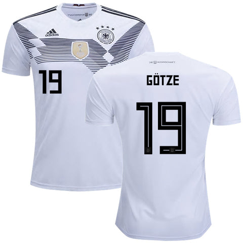 2018 World Cup adidas Götze #7 Germany National Team Home Jersey - White