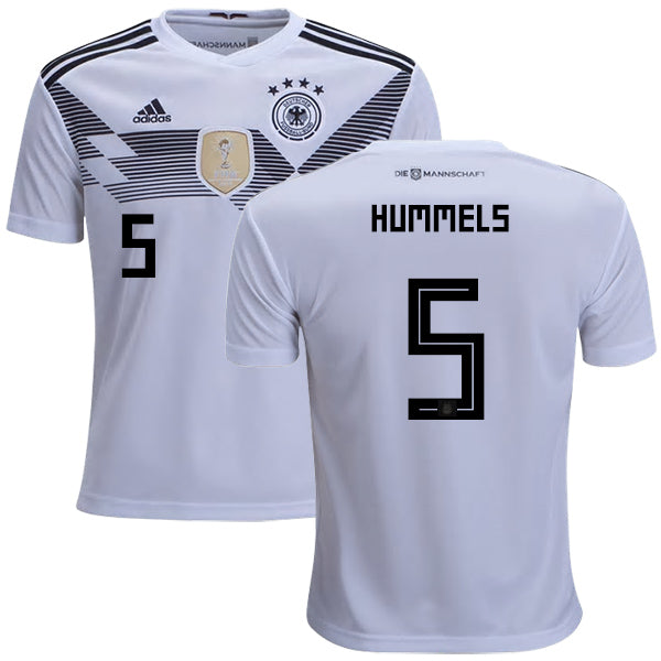 2018 World Cup adidas Hummels #5 Germany National Team Home Jersey - White - La Vinotinto Shop