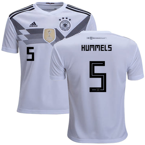 2018 World Cup adidas Hummels #5 Germany National Team Home Jersey - White